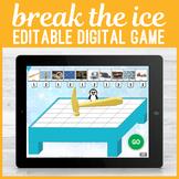 Digital Editable Don't Break Ice No Print Game for Speech