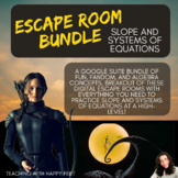 Digital-Editable ESCAPE Room BUNDLE: Slope and Systems of Equations