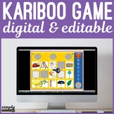 Digital Editable Kariboo Game for No Print Speech Cariboo