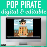 Digital and Editable Pirate Pop Game for No Print Speech Teletherapy or iPad