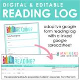 Digital + Editable Reading Log