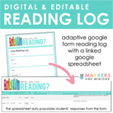 Digital + Editable Reading Log