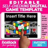 Digital Editable Self-Checking Google Slides PPT Game Temp