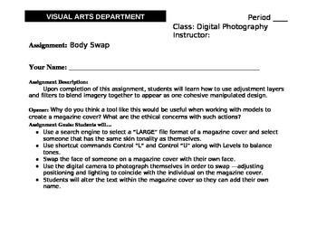 Digital Editing - Body Swap - High School