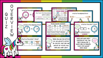 Digital Elapsed Time Quiz for Google Forms