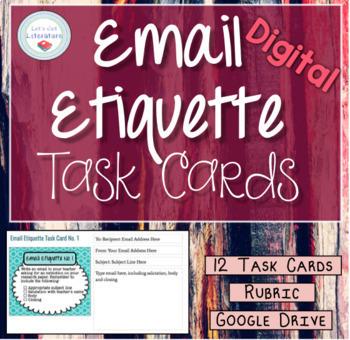 Digital Email Etiquette Task Cards
