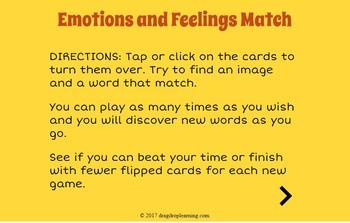 Digital Emotions and Feelings Memory Game