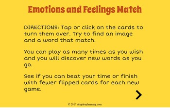 DIGITAL Emotions and Feelings Matching Game