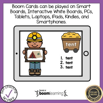 Boom Cards Blends Write the Word