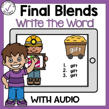 Boom Cards Final Blends Write the Word
