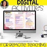 Digital and Distance Learning Activities