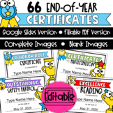 Digital End of Year Awards | Editable | Distance Learning