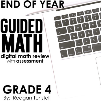 Digital End of Year Math Review Fourth Grade