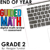 Digital End of Year Math Review Second Grade