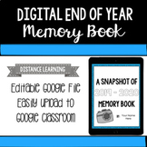 Digital End of Year Memory Book - Distance Learning