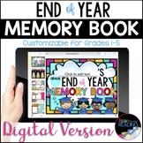 Digital Memory Book, End of Year Google Slides Writing, Di