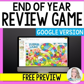 Digital End of Year Review Game - Free Sample for Distance Learning
