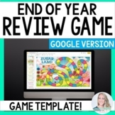 Digital End of Year Review Game TEMPLATE - Great for Dista