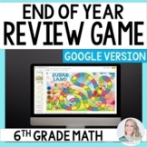 Digital End of Year Review Game for 6th Grade Math - Great