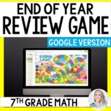 Digital End of Year Review Game for 7th Grade Math - Great
