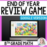 Digital End of Year Review Game for 8th Grade Math - Great