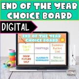 Digital End of the Year Choice Board l Distance Learning