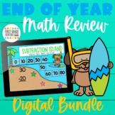 End of Year Math Review Digital Growing Bundle Google Sees