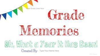 Digital End of the Year Memory Book - Google Slides