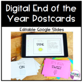 Digital End of the Year Postcards | Editable Google Slides