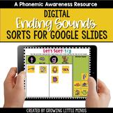 Digital Ending Sound Sorts for Google Slides   Distance Learning