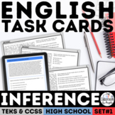 Digital English I & II STAAR Inference Task Cards for Google Forms™