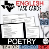 Digital English I & II STAAR Poetry Task Cards for Google Forms™