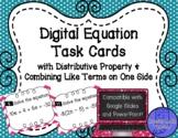 Digital Equation Task Cards 1 Side Distributive Property a
