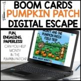 Digital Escape Pumpkin Patch Boom Cards™ Distance Learning