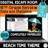 Digital Escape Room 6th Grade Data and Statistics | Distan