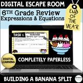 Digital Escape Room | 6th Grade Expressions and Equations