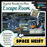 """Digital Escape Room (ANY SUBJECT)   Ready-to-Play   """"Space Heist"""""""