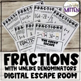 Add & Subtract Fractions with Different Denominators Digit
