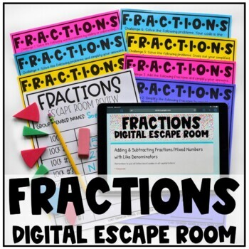 Digital Escape Room: Adding and Subtracting Mixed Numbers