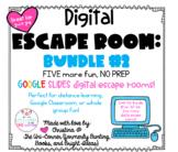 Digital Escape Room BUNDLE #2 | Distance Learning | 5 Esca