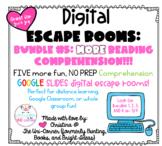 Digital Escape Room BUNDLE #5 COMPREHENSION | Distance Lea
