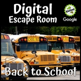 Digital Escape Room - Back to School | Distance Learning