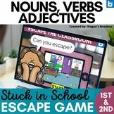 Grammar Digital Escape Room  - Nouns Verbs Adjectives