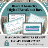 Digital Escape Room/ Breakout Box - Geometry Basics