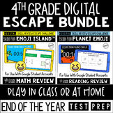 Digital Escape Room Math and Reading Review | End of the Y