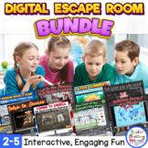 Digital Escape Room Bundle for Distance Learning - Grades 2-5
