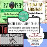 Digital Escape Room Bundle of 5!  Engaging!