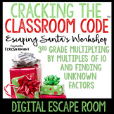 Digital Escape Room Cracking the Classroom Code® 3rd Grade Christmas Math