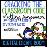 Digital Escape Room Cracking the Classroom Code®3rd Grade Christmas Math