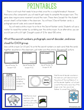 Digital Escape Room 3rd Grade Simple Division Facts Math